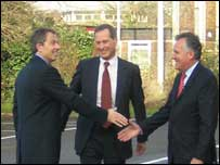 Tony Blair, Alan Howarth and Peter Hain