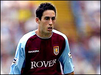 Aston Villa midfielder Peter Whittingham