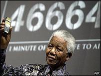 Nelson Mandela lanza campa�a para recaudar fondos contra el SIDA