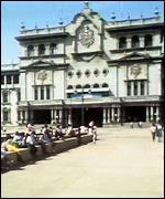 Palacio presidencial en Ciudad de Guatemala.
