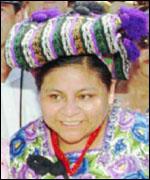 Rigoberta Mench�, activista por los derechos de los ind�genas