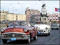 A US delegation explores Havana to look for tourist destinations