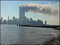 World Trade Center shortly after the 11 September attack