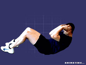 An animated sit up graphic