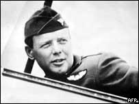 US aviator Charles Lindbergh