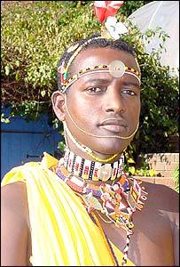 Samburu Masai warrior, Mathew Laigwanani, 24