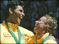 Mark Philippoussis and Lleyton Hewitt