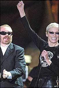 Dave Stewart y Annie Lennox de Eurythmics.