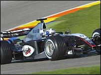 David Coulthard tests the MP4-19 in Valencia