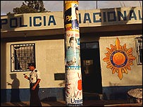 Estación de policía en Guatemala