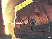 Steelworkers at a Bethlehem Steel plant in Maryland