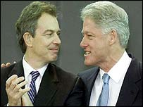 Tony Blair (left) and Bill Clinton