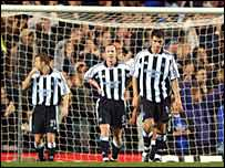 Newcastle suffered at the hands of Chelsea
