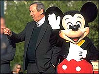 Roy Disney and Mickey Mouse