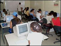 Internet cafe in Brazil