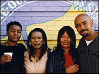L-R: Beverley Thomas, Marcia Shakespeare, Sandra Thomas and David Akinsanya