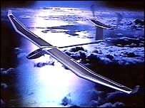 CGI of solar plane