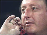 Five-time world champion Eric Bristow takes aim