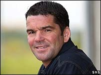 Albion Rovers manager Peter Hetherston