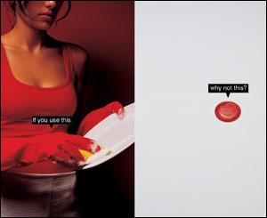 Demian Campos, creativo de Eliaschev Publicidad, Caracas, Venezuela, envió varias piezas de una campaña  para fomentar el uso del preservativo de manera cotidiana.