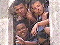 Prisoners in Carandiru jail, 1998