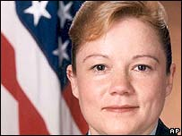 US Warrant Officer Sharon Swartworth, killed in an attack on a Black Hawk helicopter