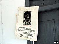 Poster of Ken Saro-Wiwa in his father's house