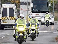 The jury's coach arrives in Soham