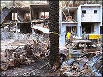 The devastation in Riyadh after the bomb