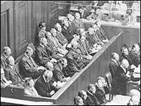 Opening of war crimes trial against IG Farben executives, September 1947