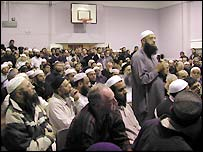 Those attending the meeting were predominantly Muslim