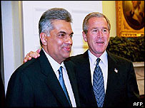 Ranil Wickramasinghe and George Bush