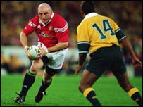Keith Wood in action for the Lions against Australia in 2001