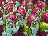 Chocolate Santas, BBC