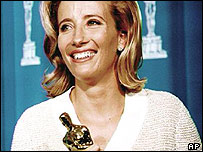 Emma Thompson with her Oscar