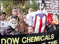 Demonstration against Dow chemicals