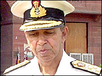 India's navy chief, Admiral Madhvendra Singh
