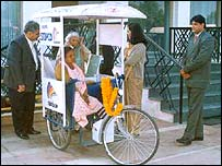 Mobile phone rickshaw