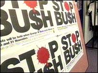 Stop Bush posters
