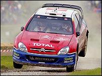 Colin McRae in a Citroen on the Rally GB
