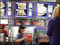 Inside a Burger King restaurant