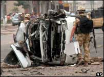 Basra blast aftermath