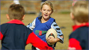 Action from the Tag Rugby event at Barry RFC