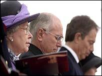 The Queen, Australian PM John Howard and Tony Blair