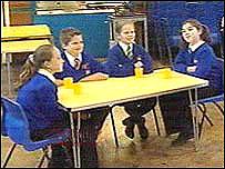 Breakfast club at Dolau Primary School
