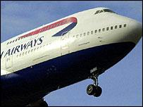 British Airways jumbo