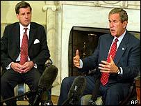 President Bush meets Iraqi administrator Paul Bremer