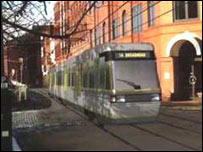 An artist's impression of the tram