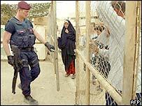 Carabiniere at Italian field hospital - Baghdad