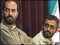 Soheil Karimi (left) and Saeed Abu Taleb (right)